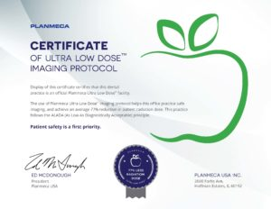 Certificate for Ultra low dose imaging protocol